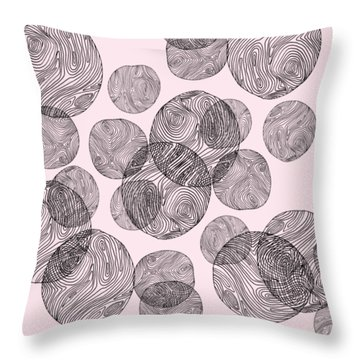 Woodprint Pattern Throw Pillow