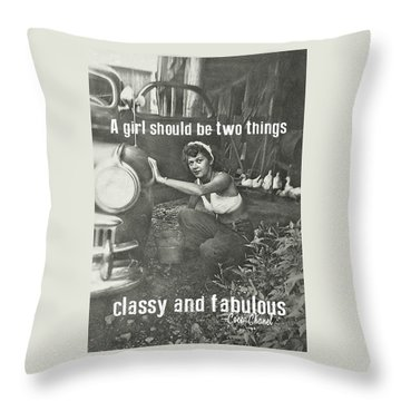Working At The Carwash Throw Pillow