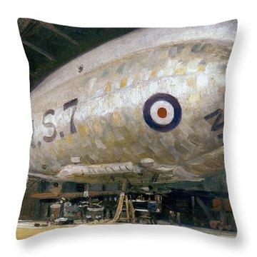 World War I: Airship Throw Pillow by Granger