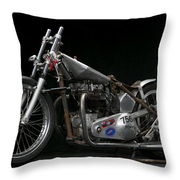World's Fastest Vintage Triumph Throw Pillow