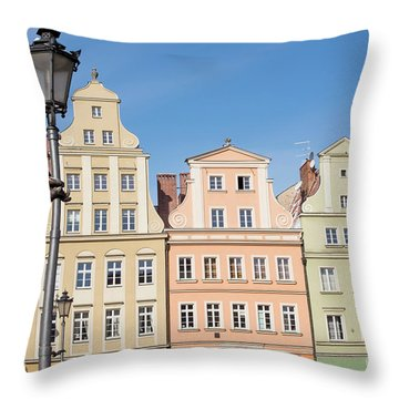 Wroclaw, Poland Throw Pillow