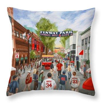 Yawkey Way Throw Pillow by Christine Da Silva
