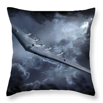 Yb-35 Flying Wing Throw Pillow