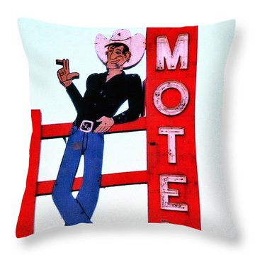 Yee Hawwwww Throw Pillow by Matthew Bamberg