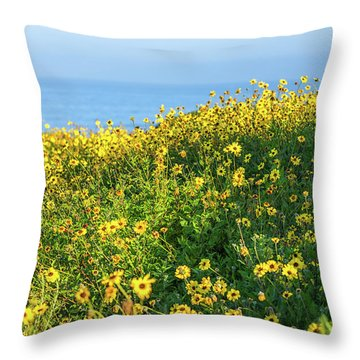 Yellow Is The Color Throw Pillow
