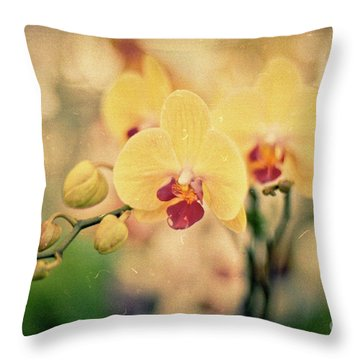 Throw Pillow featuring the photograph Yellow Orchids by Ana V Ramirez