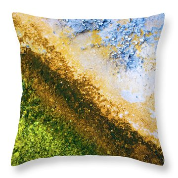 Yellowstone Abstract Throw Pillow