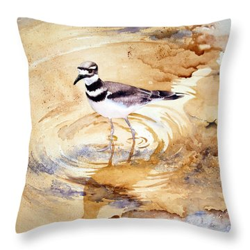 Yellowstone Killdeer Throw Pillow