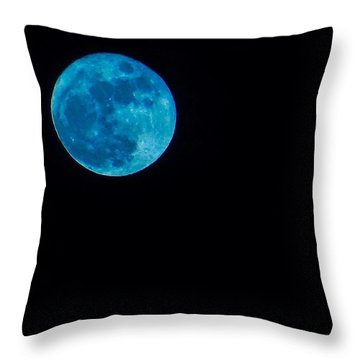Yes, Once In A #bluemoon! Throw Pillow