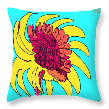 Yes. This Is A Flower, Child Throw Pillow