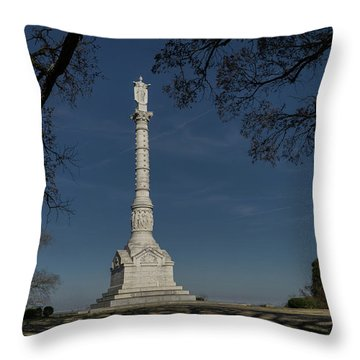 Yorktown Victory Monument Throw Pillow