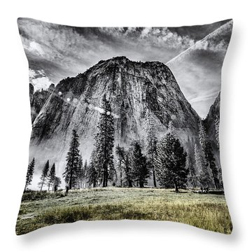 Throw Pillow featuring the photograph Yosemite Dawn by Chris Cousins