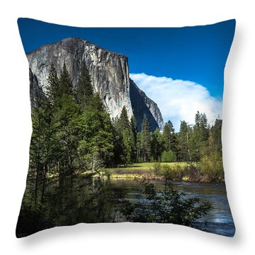 Throw Pillow featuring the photograph Yosemite by Ryan Photography
