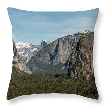 Throw Pillow featuring the photograph Yosemite Valley Afternoon by Sandra Bronstein
