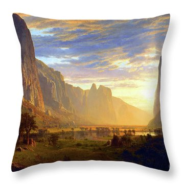 Yosemite Valley Throw Pillow