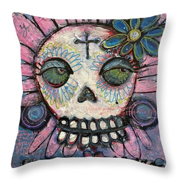 Throw Pillow featuring the painting You Are Always In My Heart by Laurie Maves ART
