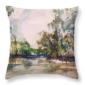 You On The Bayou Throw Pillow