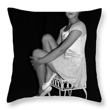 Young Ballerina  Throw Pillow