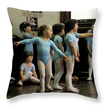 Young Ballet Dancers  Throw Pillow