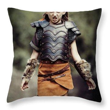 Young Warrior Throw Pillow