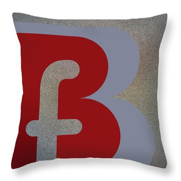 Your Name - B F Or F B Monogram Throw Pillow
