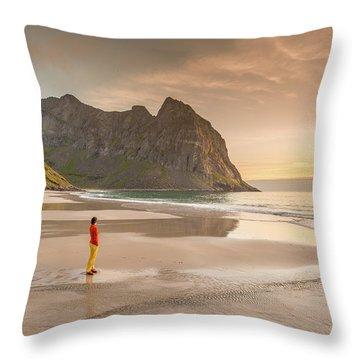 Your Own Beach Throw Pillow
