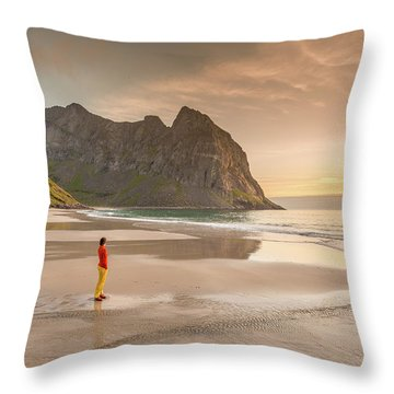 Your Own Beach Throw Pillow