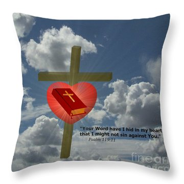Your Word Have I Hid In My Heart Throw Pillow