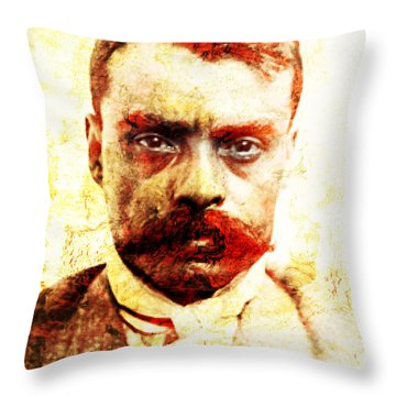 Zapata Throw Pillow by J- J- Espinoza