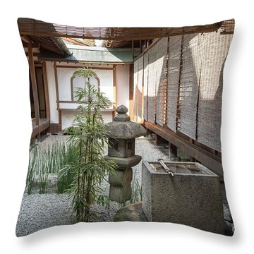 Zen Garden, Kyoto Japan Throw Pillow