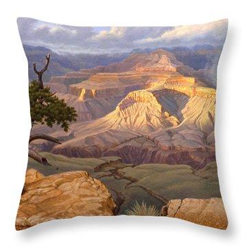 Zoroaster Temple From Yaki Point Throw Pillow