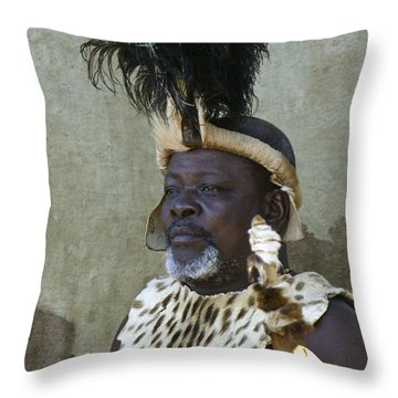 Zulu Dignity Throw Pillow by Michele Burgess