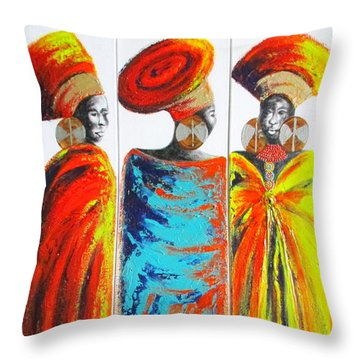Zulu Ladies 2 Throw Pillow