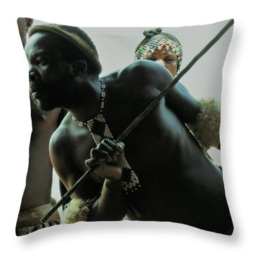 Zulu Warrior Throw Pillow