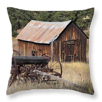 Seed Tiller - Barn Westcliffe Co Throw Pillow