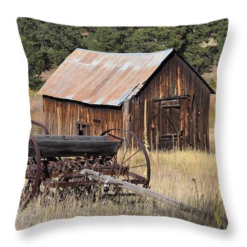 Seed Tiller - Barn Westcliffe Co Throw Pillow