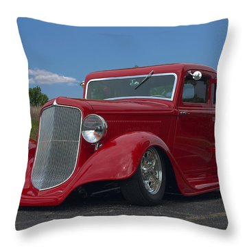 1934 Ford Coupe Hot Rod Throw Pillow