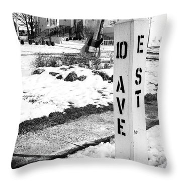 10 Ave And E St Belmar New Jersey Throw Pillow