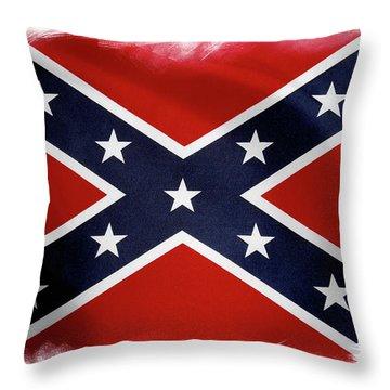 Confederate Flag 10 Throw Pillow