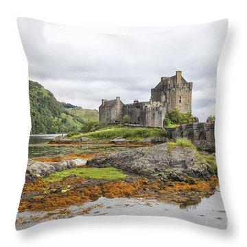 Eilean Donan Castle Throw Pillow by Patricia Hofmeester