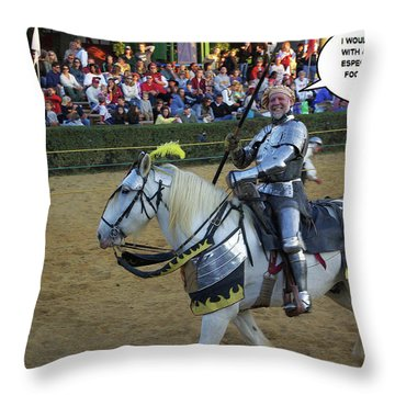 10 Foot Pole Throw Pillow by Brian Wallace