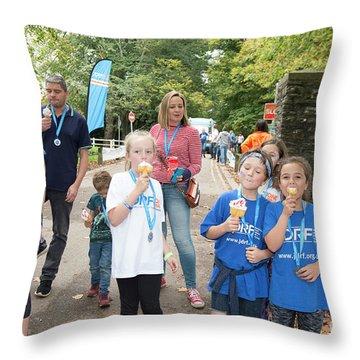 Jdrf One Walk Cardiff 2017  Throw Pillow