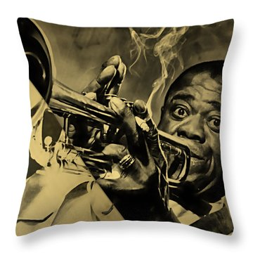 Louis Armstrong Collection Throw Pillow