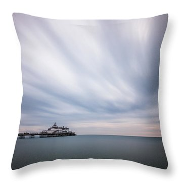 10 Minute Exposure Of Eastbourne Pier Throw Pillow