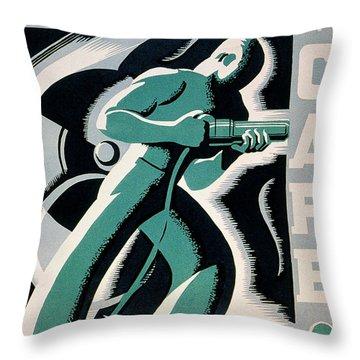 New Deal: Wpa Poster Throw Pillow by Granger