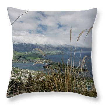 Queenstown New Zealand. Remarkable Ranges And Lake Wakatipu. Throw Pillow by Yurix Sardinelly