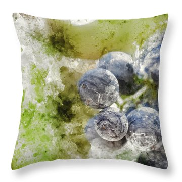 Red Grapes On The Vine Throw Pillow