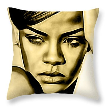 Rihanna Collection Throw Pillow