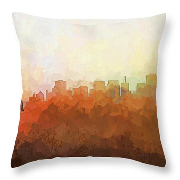 Throw Pillow featuring the digital art San Francisco California Skyline by Marlene Watson