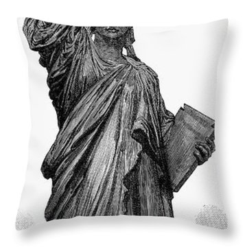 Statue Of Liberty Throw Pillow by Granger